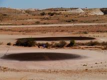 高尔夫球在沙漠 免版税图库摄影