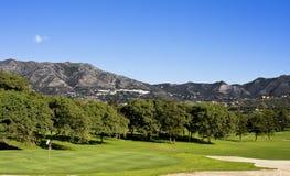 高尔夫球在西班牙 免版税图库摄影