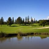 高尔夫球在西班牙 图库摄影