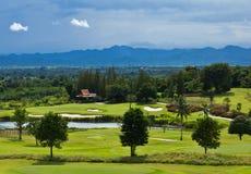 高尔夫球地产零件 图库摄影