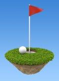 高尔夫球地形 库存图片