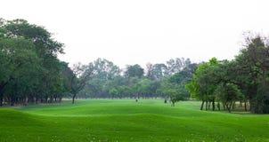 高尔夫球地面风景  图库摄影
