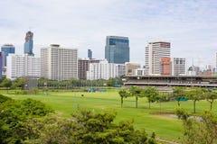 高尔夫球场和跑马场皇家曼谷体育俱乐部的 库存照片