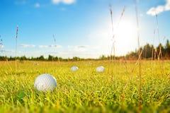 高尔夫球场在乡下 库存图片