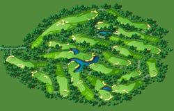 高尔夫球场布局 库存图片