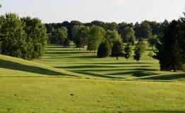 高尔夫球场景色 库存图片