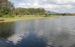 高尔夫球场河地堡  库存图片