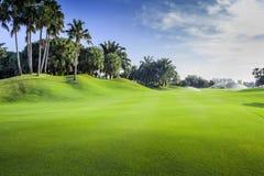 高尔夫球场航路,泰国 免版税库存照片