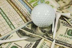 高尔夫球场面 库存图片
