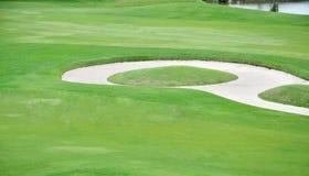 高尔夫球场风景背景 免版税库存图片