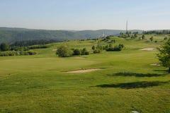 高尔夫球场-捷克 免版税库存照片