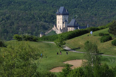 高尔夫球场-捷克 库存照片