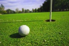 高尔夫球场细节 库存照片
