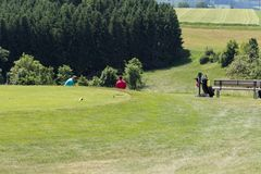 高尔夫球场 免版税库存照片