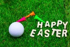 高尔夫球复活节假日 免版税库存图片