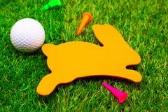 高尔夫球复活节假日 免版税库存照片