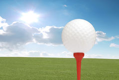 高尔夫球夏天 图库摄影