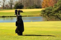高尔夫球大袋 库存图片