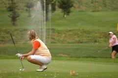 高尔夫球夫人 免版税库存图片