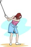 高尔夫球女孩 免版税库存照片