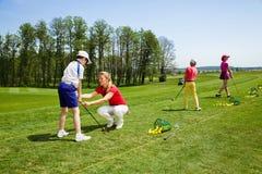高尔夫球学校 库存照片