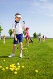 高尔夫球学校 免版税库存照片