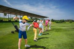 高尔夫球学校 图库摄影