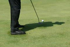 高尔夫球影子 库存照片