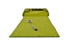 高尔夫球微型白色 免版税库存照片