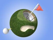 高尔夫球微型行星 库存图片