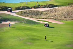 高尔夫球手段 免版税图库摄影