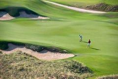 高尔夫球手段 免版税库存照片
