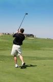 高尔夫球摇摆 库存照片