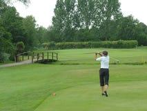 高尔夫球摇摆 库存图片