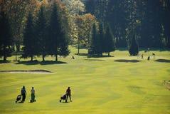 高尔夫球操场 免版税库存图片