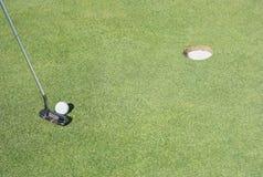 高尔夫球放置 免版税库存图片