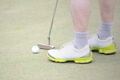高尔夫球放置 库存图片