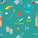 高尔夫球无缝的样式传染媒介 免版税库存图片