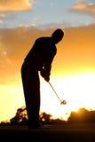 高尔夫球早晨 免版税库存照片