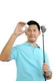 高尔夫球有远见者 库存图片