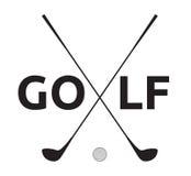 高尔夫球标志 皇族释放例证