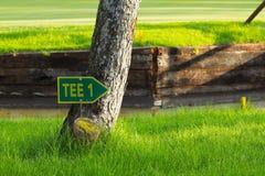 高尔夫球标志 免版税图库摄影
