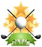 高尔夫球横幅 免版税库存图片