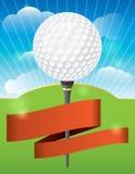 高尔夫球比赛设计 图库摄影