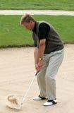 高尔夫球沙子射击 免版税库存照片