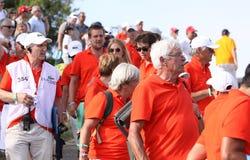 高尔夫球法国公开赛的志愿者2015年 免版税库存照片