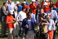 高尔夫球法国公开赛的志愿者2015年 库存图片