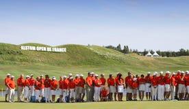 高尔夫球法国公开赛的志愿者2015年 库存照片