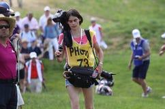 高尔夫球法国公开赛的摄影师2015年 免版税库存照片