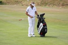 高尔夫球法国公开赛的胜者Dubuisson 2015年 免版税图库摄影